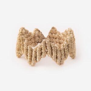 χειροποίητο μακραμέ δαχτυλίδι μίνιμαλ