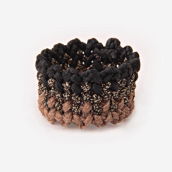 γυναικείο χειροποίητο μακραμέ δαχτυλίδι